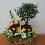 Arranjo floral com Bonsai