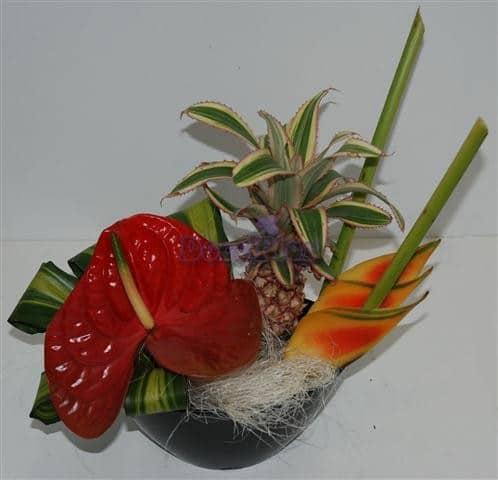 Arranjo de flores exóticas