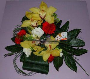 Arranjo floral de orquideas