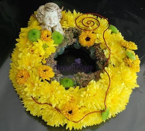 Coroa Amarela de margaridas