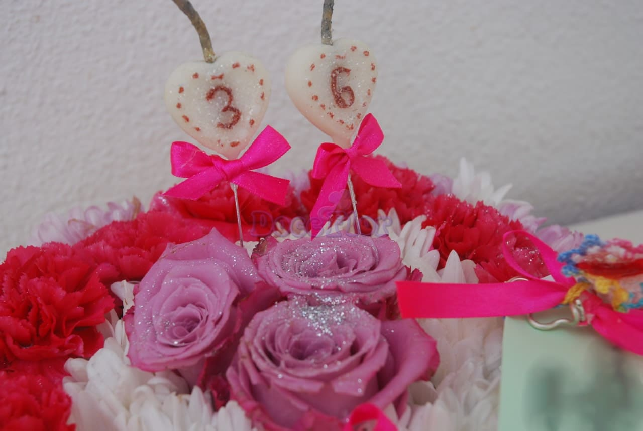 Bolo de Aniversário em tons rosa