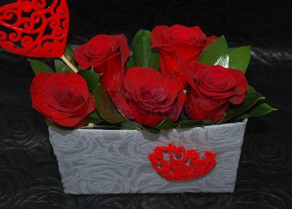 Caixa de Rosas Dia dos Namorados