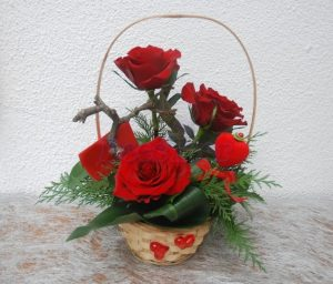 Cesta de Rosas Vermelhas