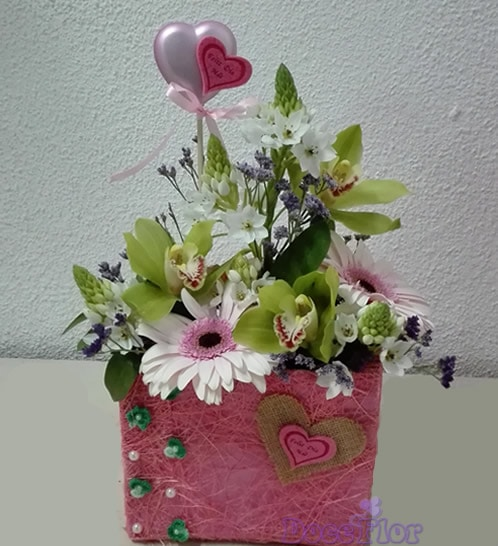 Malinha Dia da Mãe em tons rosa